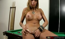 Busty Latina Tranny Showing Big Dick