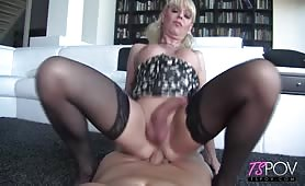 Big boobs blonde Joanna Jet fucked at home