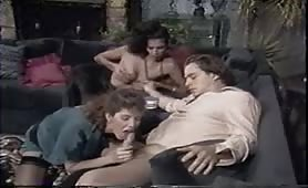 Cocky 60's Slut Fucked By Guy and Shemale.