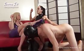 Torrid 3-Some With Mature TS Joanna Jet.