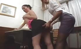 Office Slut Blows and Bangs On Her Lunch Hour.