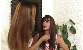 Puny Boobs Black Tranny Rafaela Lohan Humiliates Guy.