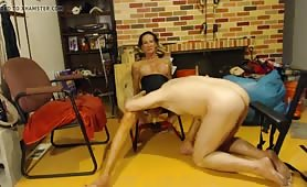 Mature Shemale Sits On Huge Dildo And Gets Fisted.