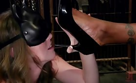 Natassia Dreams And Her Slutty Leather Kitten Ella Nova.